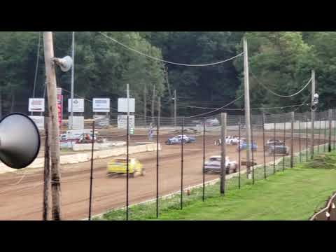 Bob Jay, Greg Hainsey,  Bill Replogle Heat Race Bedford Speedway 7/26/19 Bedford County Fair Race