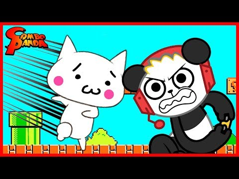 Let's Play Funny Impossible Games JELLY MARIO + CAT MARIO with Combo Panda