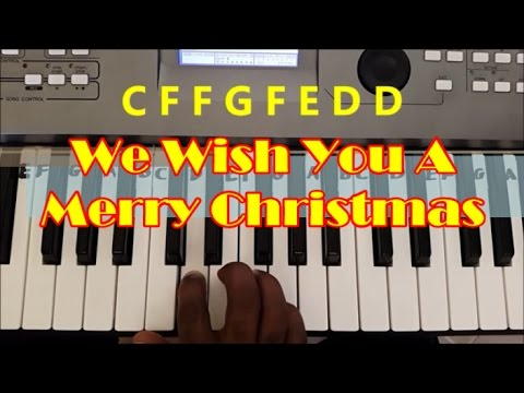 How To Play We Wish You A Merry Christmas Easy Piano Keyboard