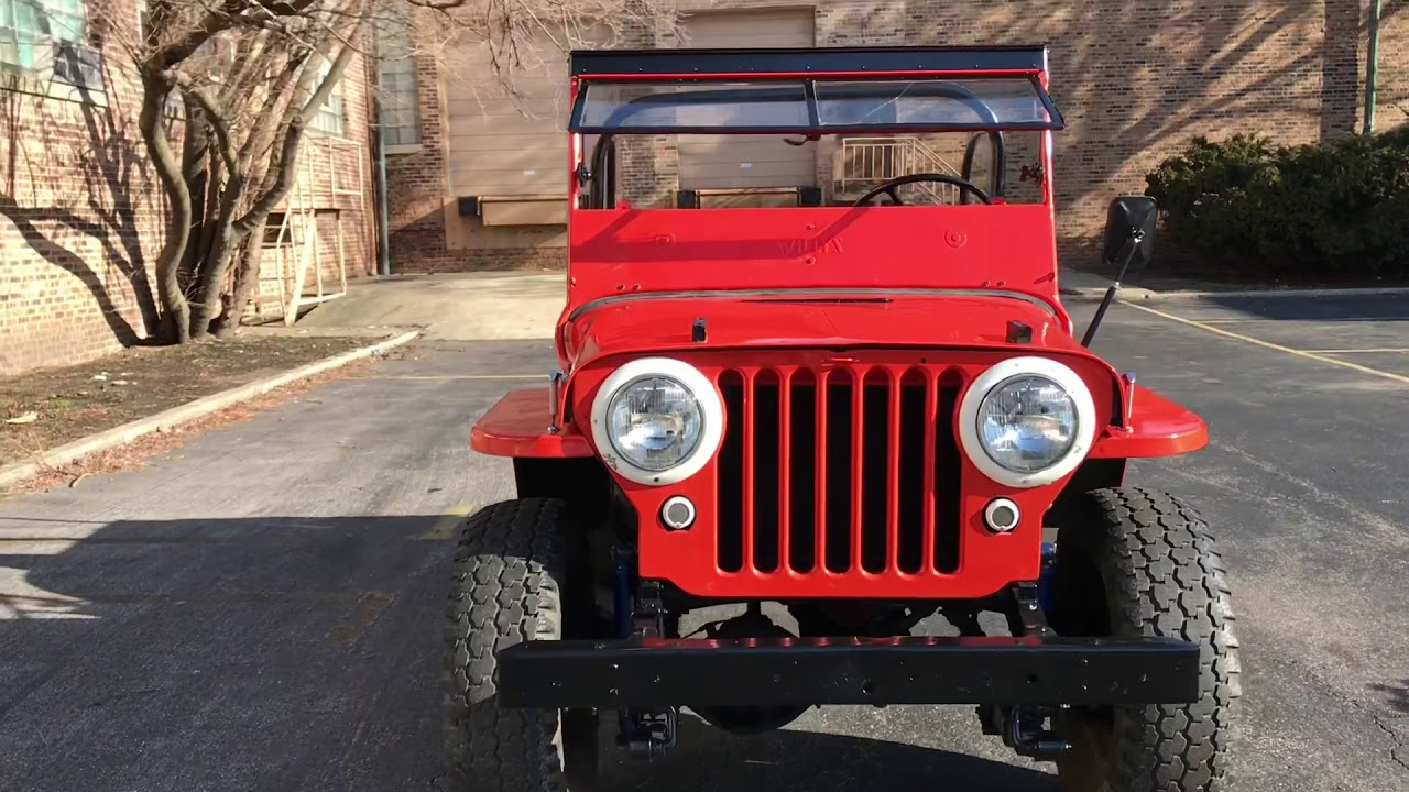 [SOLD] 1946 Willys CJ2A Jeep For Sale