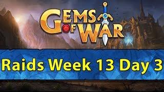 ⚔️ Gems of War Raids | Week 13 Day 3 | 4 Year Anniversary Pet and Lots of Raids ⚔️