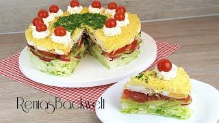 Partysalat, Salattorte, Schichtsalat Einfach & Lecker