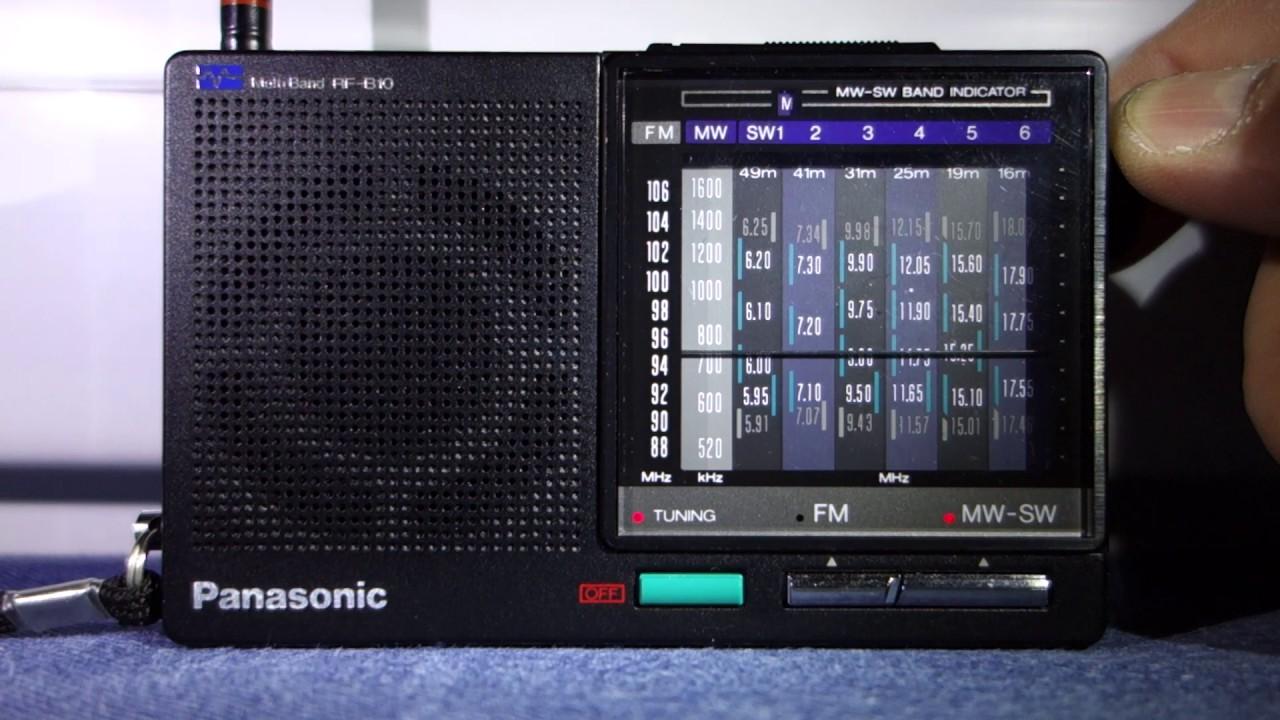 Panasonic Rf B10 Multi Band Pocket Radio Receiver  Mw Test