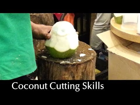 Amazing Coconut Cutting Skills – Flesh & Juice Intact!