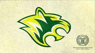 E-Sports Team Logo With Animal Style Tutorial / Adobe illustrator CC / How to Design Tiger Head Logo