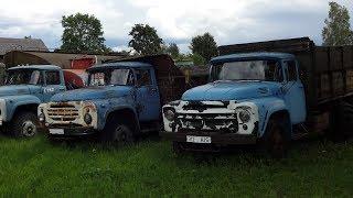 Старые советские автомобили | Автобусы | Грузовики | Ретро техника под открытым небом
