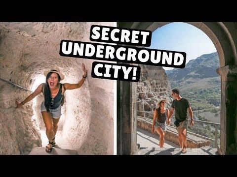 GEORGIA ROAD TRIP DAY 6 | Exploring a Secret Underground City! (Vardzia Caves)