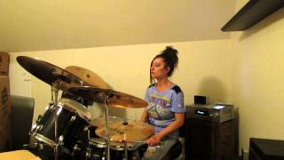 Bad English  Possession ~ Drum Cover by Denise... F bomb dropped.. lol