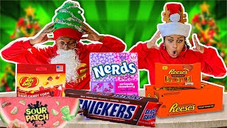 speed-eating-the-biggest-candy-challenge-vlogmas-day-3