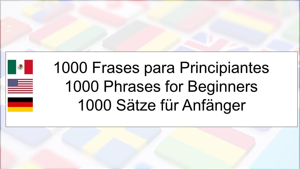 Cursos De Idiomas Aprende 1000 Frases En Inglés Y Alemán Para Políglotas Principiantes Parte 110
