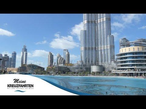 MSC Splendida ab/bis Dubai: Dubai! – Burj Khalifa und Dubai Fountains