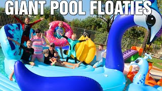 We Filled Our ENTIRE Pool with the World's Largest Pool Float!!