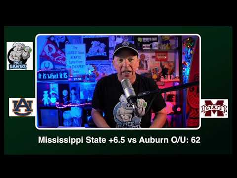 Mississippi State vs Auburn 12/12/20 Free College Football Picks and Predictions CFB Tips