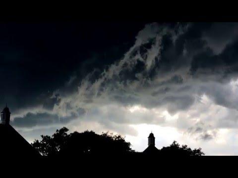 Tornado warned storm Salina, Ks 04-24-16 a