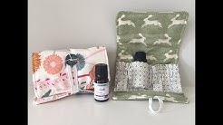 How to sew an essential oil wallet case holder bag