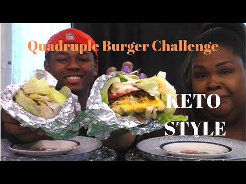Quadruple Burger Challenge | by Time to Grub With Cherice