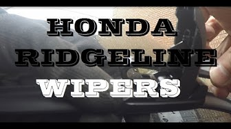 """How to replace Honda ridgeline windshield viper blades """"vipers"""""""
