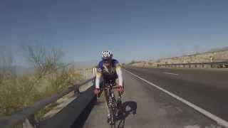 2014 Joshua Tree Double. Climbing to Chiriaco Summit on Interstate 10 out of Cochella