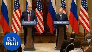 Donald Trump's statement in full: President meets Vladimir Putin - Daily Mail