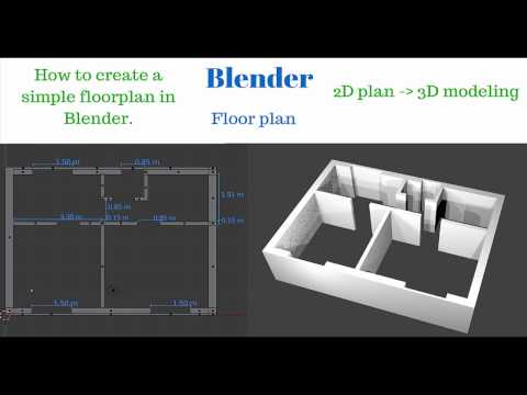 Blender How to create 2D Floor Plan and 3D House | Basic tutorial