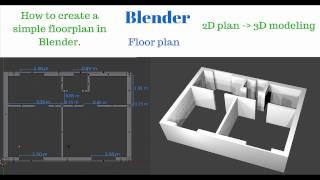 Blender How To Create 2d Floor Plan And 3d House Basic Tutorial Youtube