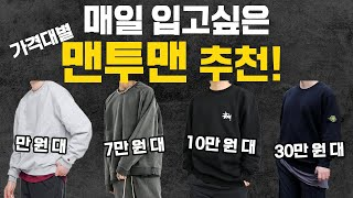 매일 입고 싶은 오버핏 맨투맨 가격대별 추천!! (스트…