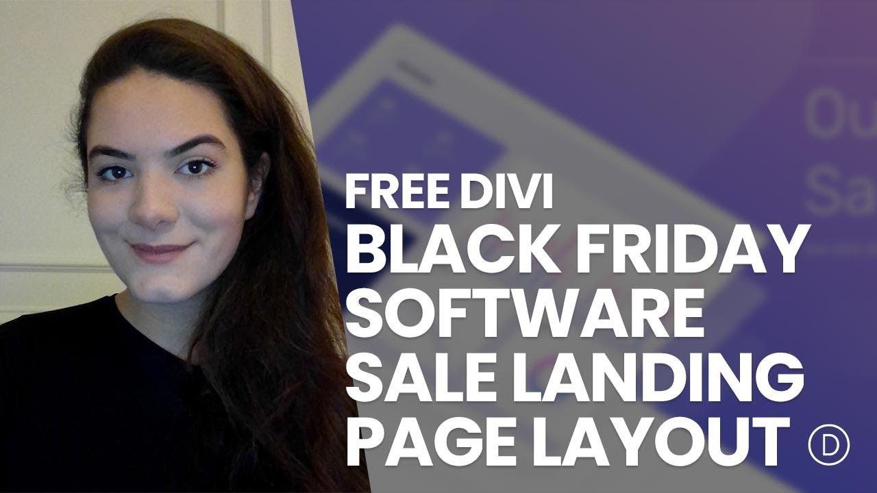 Download a FREE Black Friday Software Sale Landing Page Layout for Divi