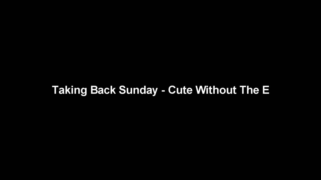 Taking Back Sunday Cute Without The E Cover 2
