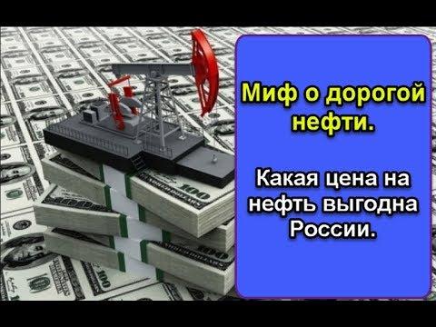 Миф о дорогой нефти. Какая цена на нефть выгодна России.