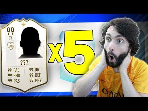 5 IKONA U NAJBOLJEM MOGUĆEM DRAFTU!! FIFA 19