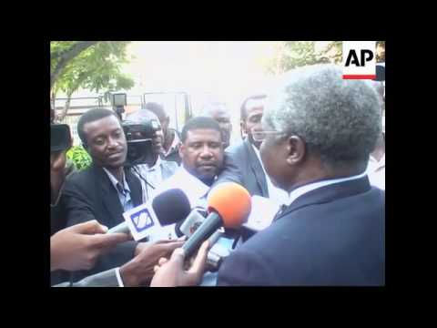 Zimbabwean opposition leader Morgan Tsvangirai in Maputo