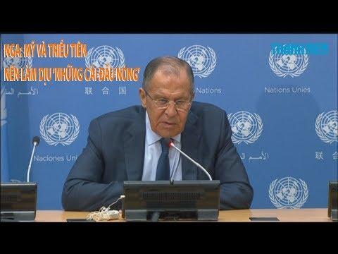 Tin nhanh Quốc tế 23.9: Nga: Mỹ và Triều Tiên nên làm dịu 'những cái đầu nóng'