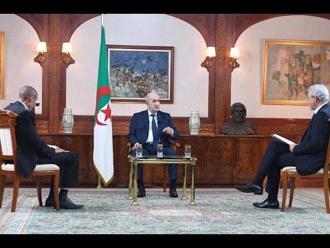 الحوار الكامل لرئيس الجمهورية عبد المجيد تبون مع الصحافة الوطنية