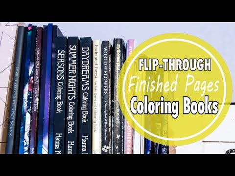 FINISHED PAGES / Coloring Book Tour And Flip Through Finished Pages