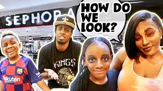 We Did Our Makeup HORRIBLY TO See How Our FAMILY Would REACT