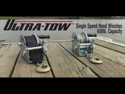 Ultra-Tow Single Speed Hand Winch with Wire Rope  600-Lb. Load Capacity 21ft. Rope