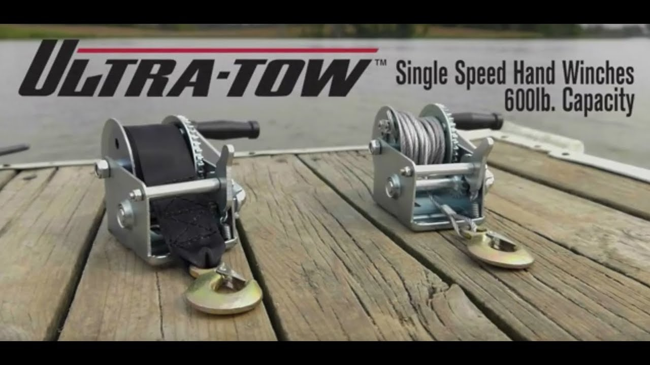 Ultra-Tow Single Speed Hand Winch with Wire Rope 600-Lb. Load ...