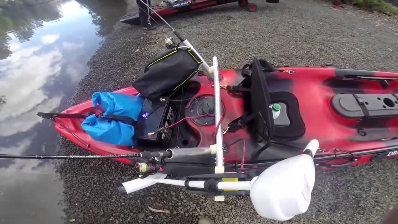 Dragon Kayak Electric Motor and Mount Demo