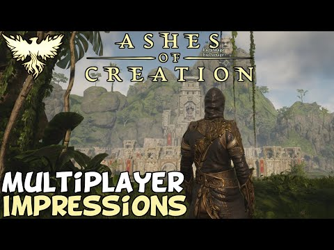 Ashes Of Creation Alpha 1: Siege PVP & World Boss Gameplay