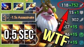 WTF CANCER BUILD 2x Rapiers Scepter Sniper New Imba Talent Epic Gameplay by Waga 7.07 Dota 2
