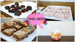 Diy Spring Snacks + Party Treats ♡ Quick & Easy!