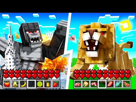 Morphing into EVERY Animal in MINECRAFT!