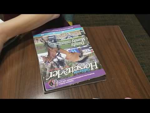 ASMR-Page turning & ripping pages Horse Magazines - no talking