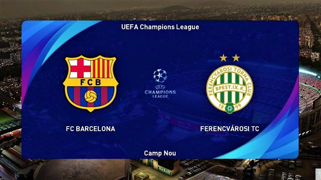 BARCELONA vs FERENCVAROS | UEFA Champions League 2020 | PES 2021 Gameplay  PC - YouTube