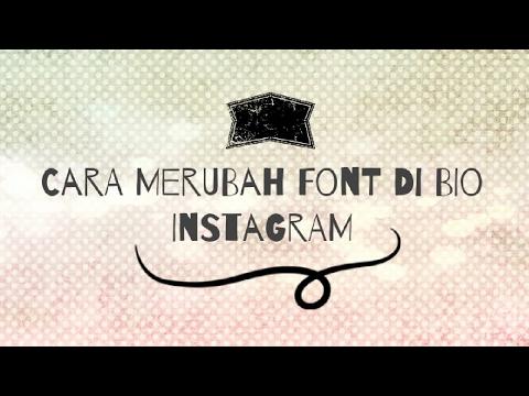 Cara Merubah Font Di Bio Instagram Youtube
