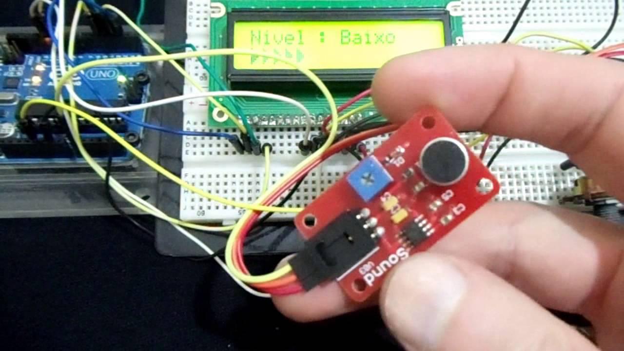 Sensor De Som Com Arduino E Display Lcd 16x2
