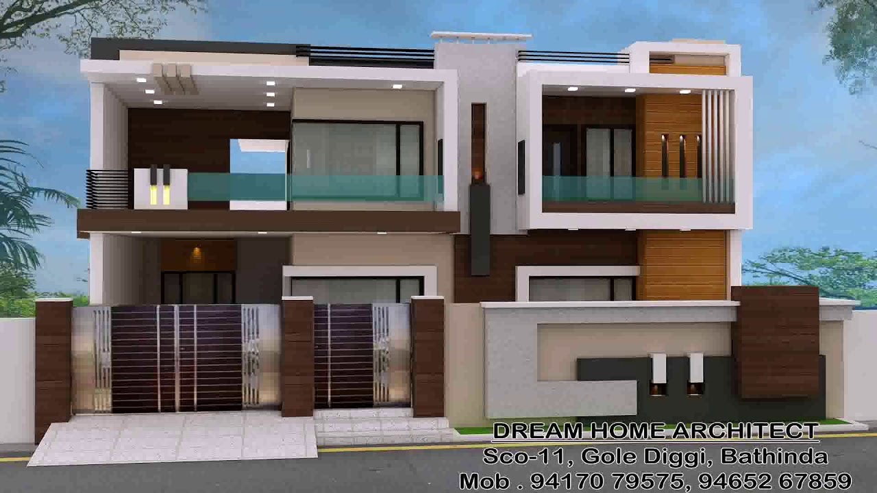 Front Boundary Wall Design Of House Youtube