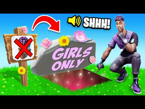 I Went UNDERCOVER in a GIRLS ONLY Tournament! (Fortnite)