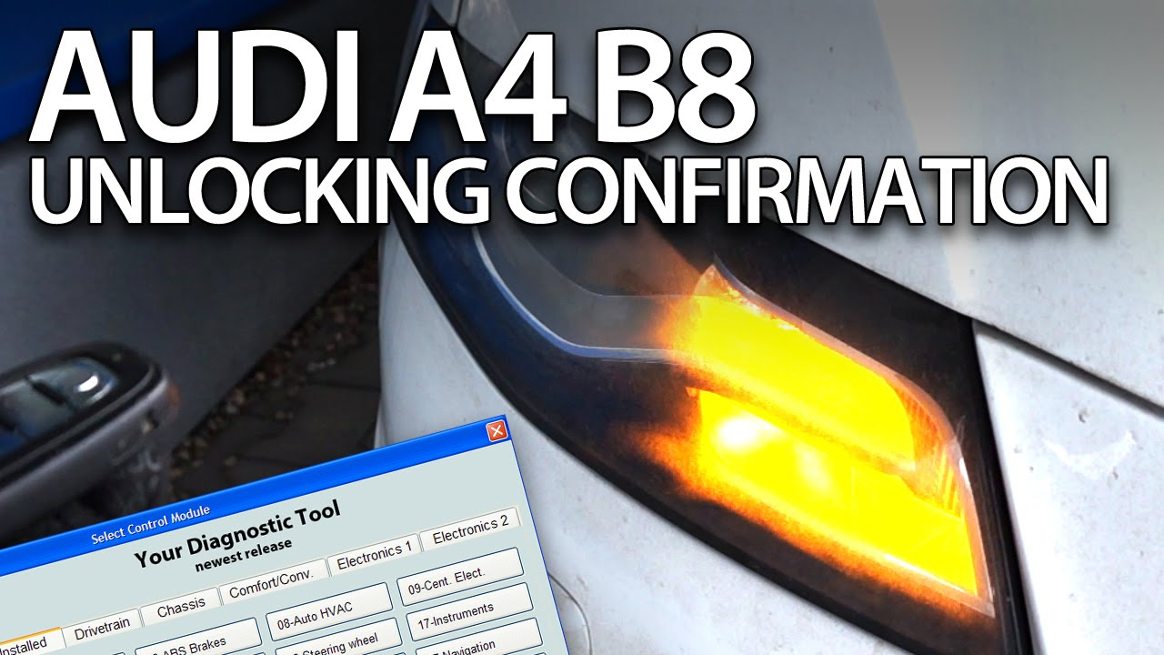 How to enable unlocking acoustic confirmation in Audi A4 B8 (2008-2015 VCDS  activation, S4, RS4)
