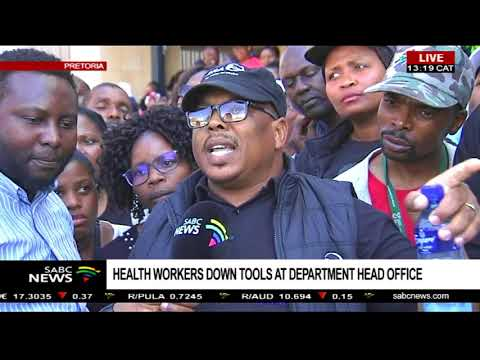 Department of Health workers down tools